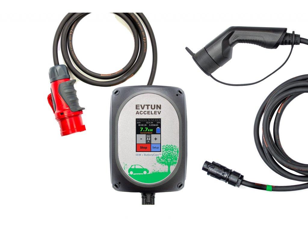 Chytrá přenosná nabíječka pro elektromobil