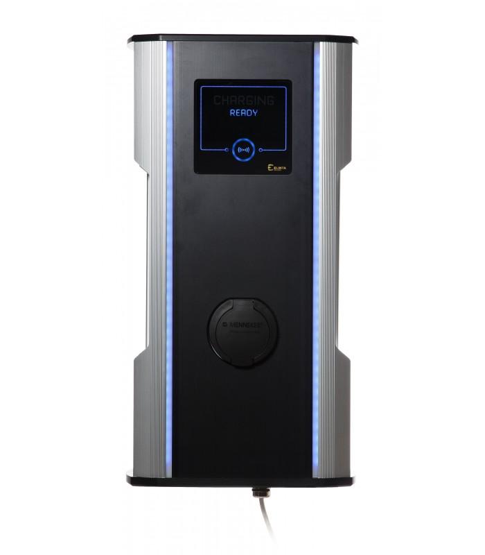 CityCharge Mini   max. 22 kW Maximální výkon: 7,4 kW / 1 fáze / 32 A, Autentizace: RFID karta +10 přístupových karet + automatické uzamykání kabelu,…