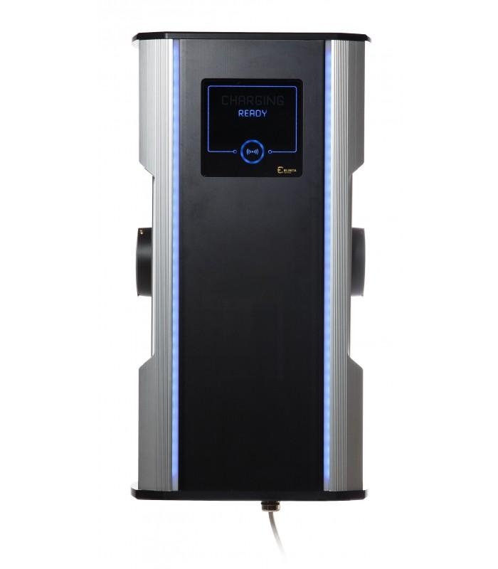 CityCharge Mini2   max. 2x22 kW Maximální výkon: 2x 7,4 kW / 1 fáze / 32 A, Autentizace: RFID karta +10 přístupových karet + automatické uzamykání…