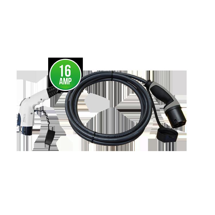 Nabíjecí kabel Yazaki 16A   do 3,7 kW Délka: 4 metry, Barva: Černá