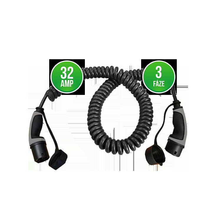 Prémiový nabíjecí kabel Mennekes 32A | 3 fáze | do 22 kW Délka kabelu: 4 metry, Barva: Černá