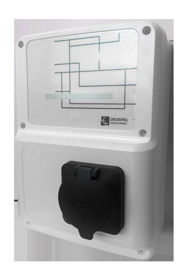 WallBox eBasic | až 22 kW Maximální výkon: 22 kW / 3 fáze / 32 A + 16 A zásuvka