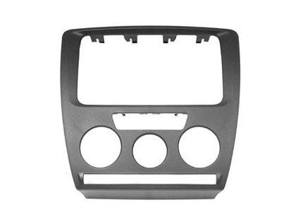 Krycí rámeček pro Škoda Octavia II. (04-09) s man. klimatizací stříbrný