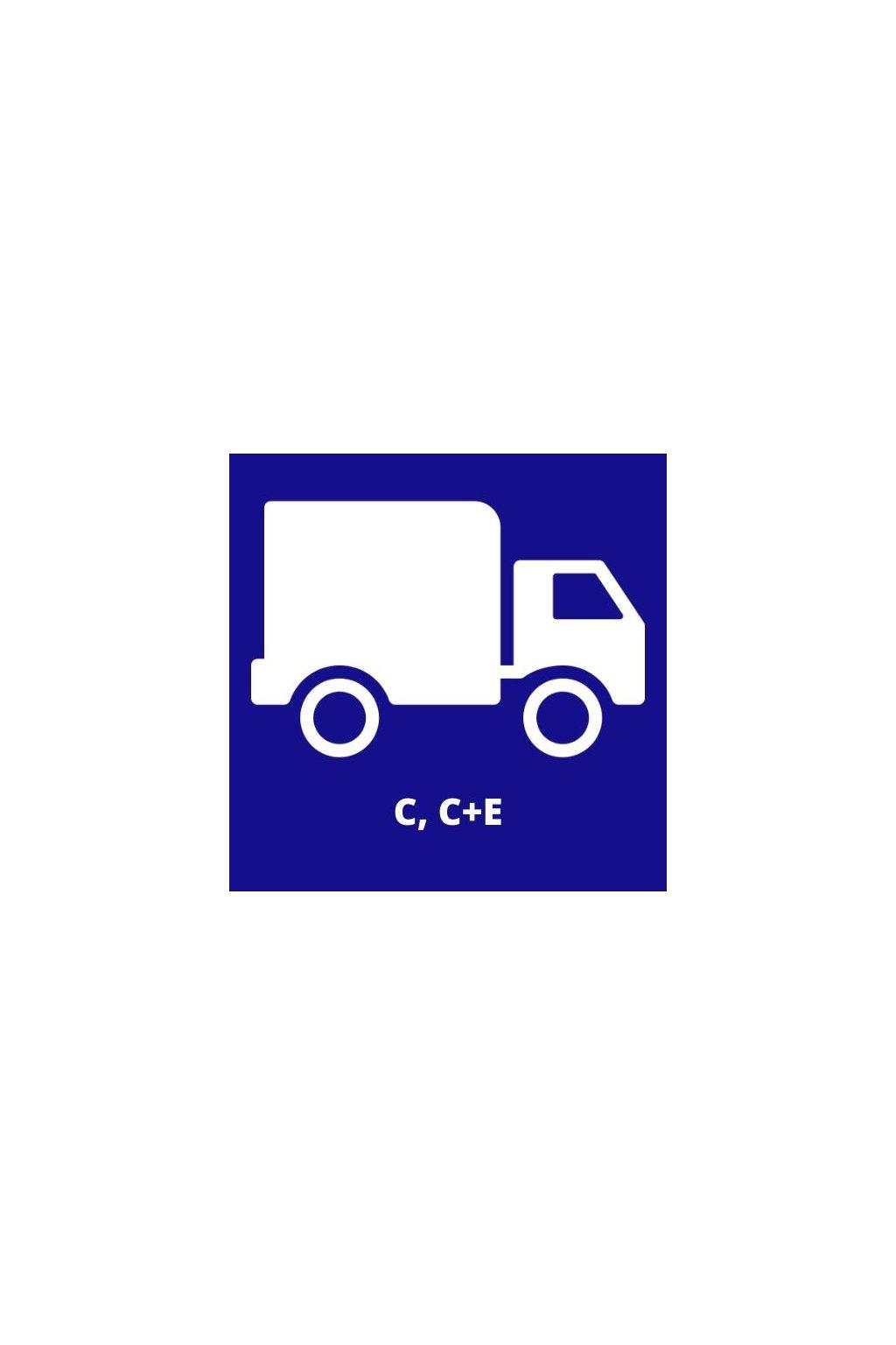 Řidičský průkaz pro skupinu C, C+E