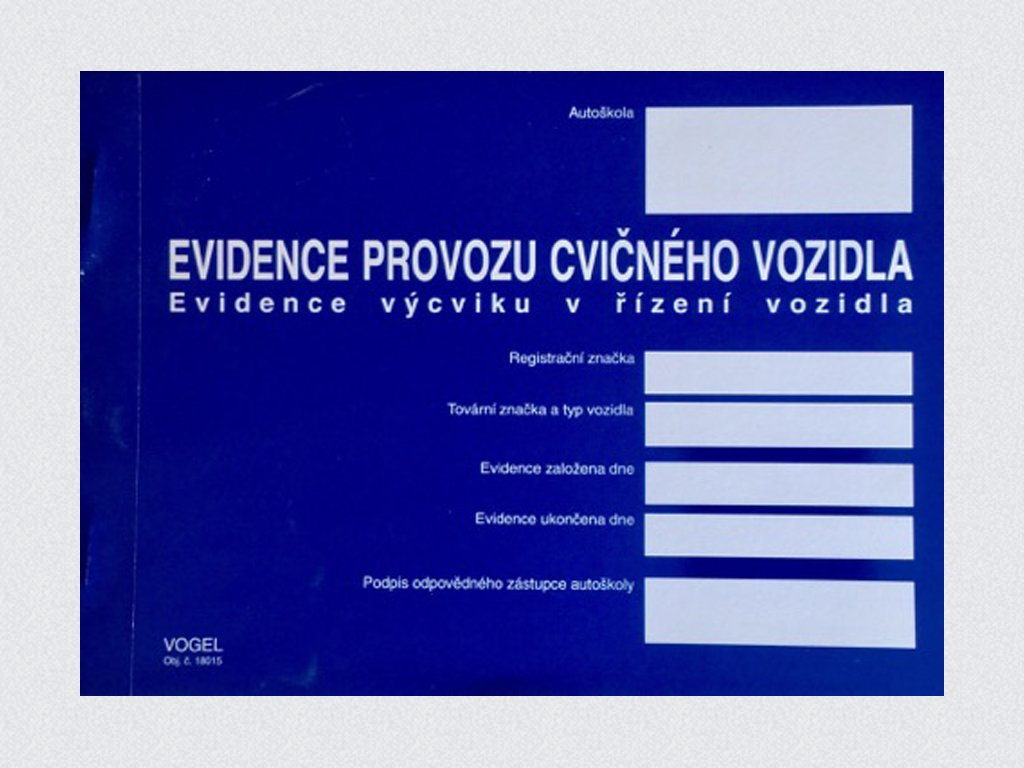 Evidence provozu cvičného vozidla - Nová k 1.9.2019!
