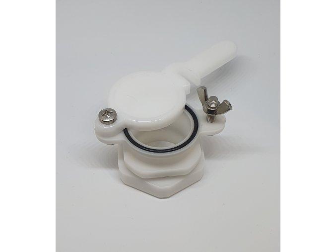ventil vypustny plastovy biely