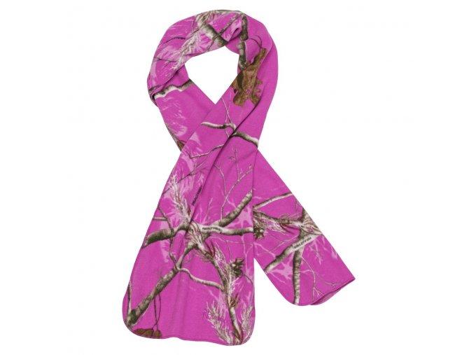 8102 947 1 Pinewood Scarf Microfleece Camo AP Hot Pink