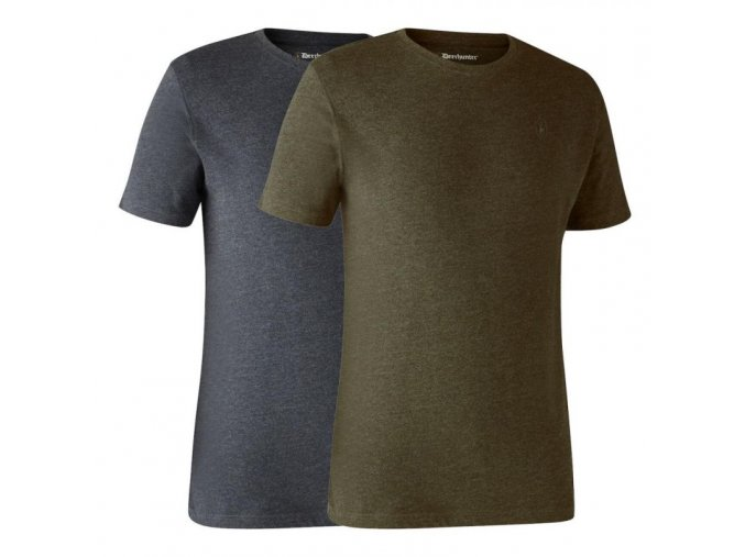 deerhunter basic 2 pack t shirt tricka dvojbalenie