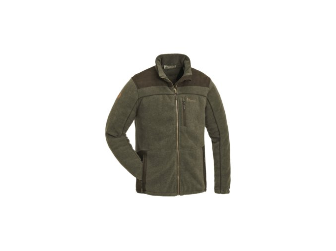 5067 702 fleece jacket prestwick exklusive olive mel suede brown
