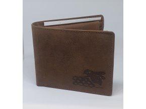 Kožená peňaženka so včelou - ležatá