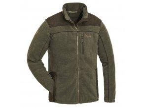 5067 702 1 Pinewood Fleece Jacket Prestwick Exklusive Olive Melange Suede Brown