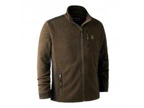 deerhunter muflon zip in fleece jacket flisova bunda