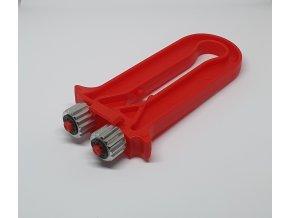 Napinák drôtu plastový červený