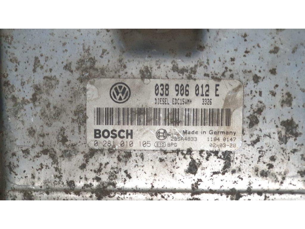 Řídící jednotka motoru Škoda 038 906 012 E