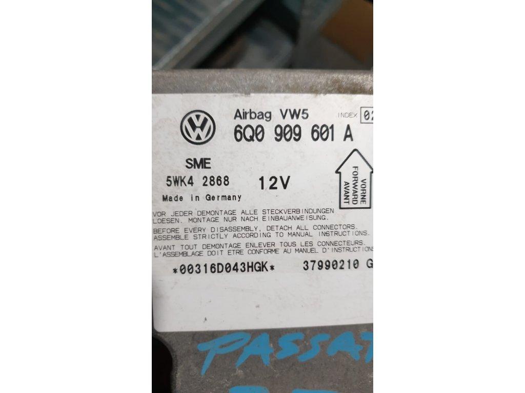 Řídící jednotka airbagu 6Q0 909 601 A