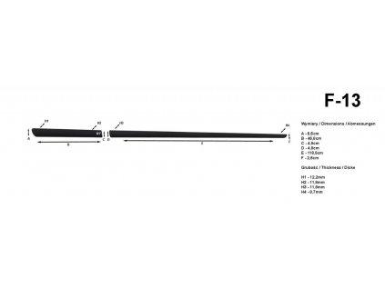 Lišty dverí - Citroen C1 3DV. 2005-2014