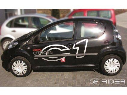 Ochranné lišty dverí - Citroen C1 5DV. 2005-2014