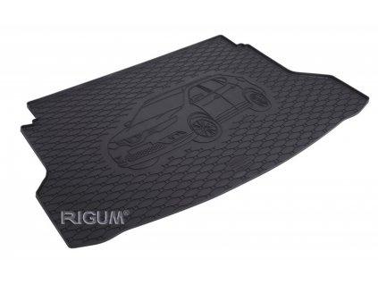 Gumová rohož kufra RIGUM - Nissan X-Trail DVOJDNO-HORNA 2014-