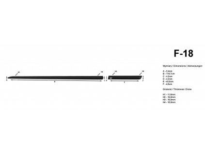 Lišty dverí - Fiat Punto Grande 3DV 2005-2009
