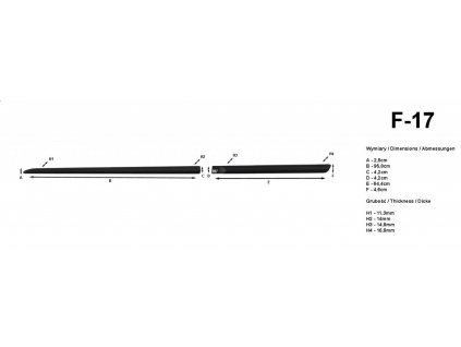 Lišty dverí - Fiat Punto Grande 5DV 2005-2009