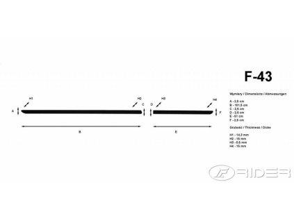 Lišty dverí - Ford FIESTA 5DV. 2017-
