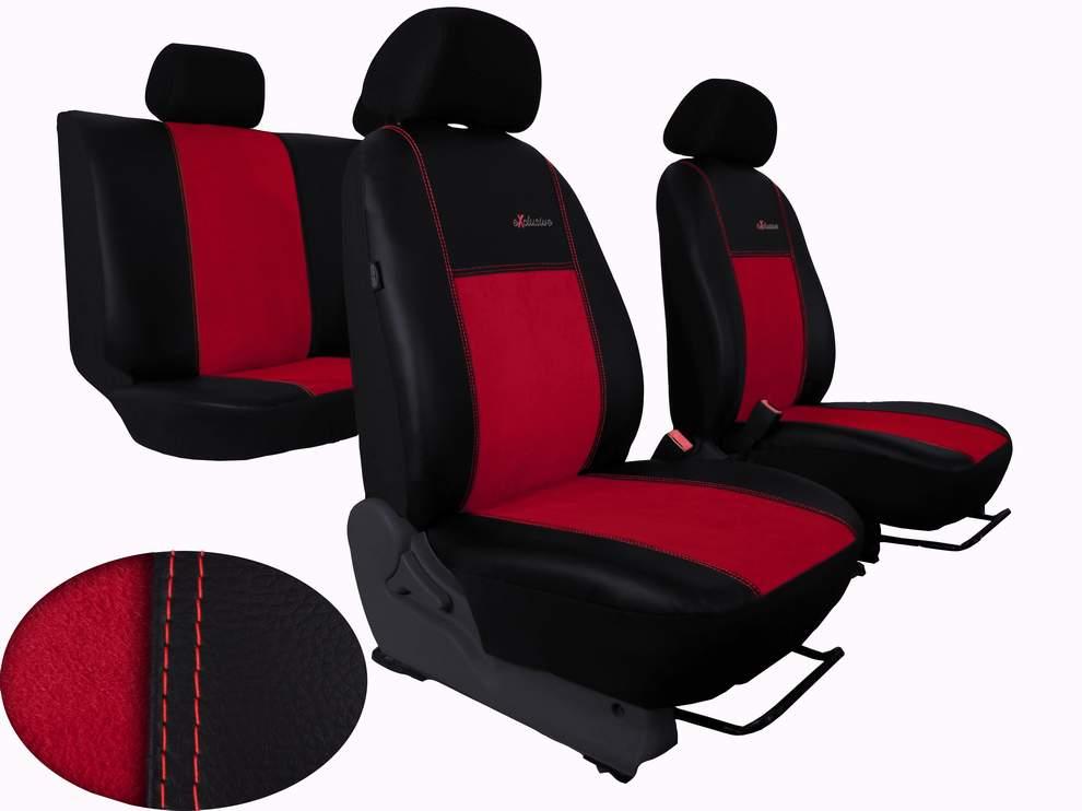 Autopoťahy Exclusive Alcantara - červené