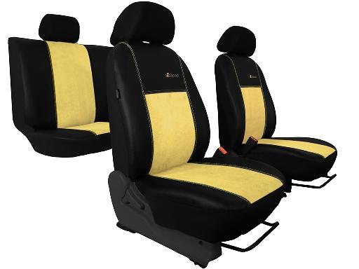 Autopoťahy Exclusive Alcantara - béžové