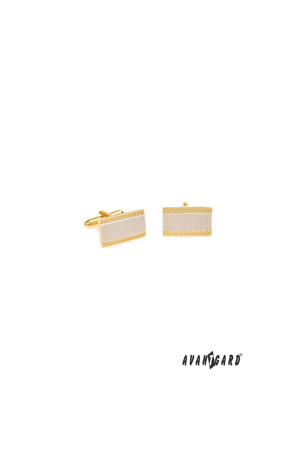 Manžetové knoflíčky PREMIUM, 573-10077, Zlatá lesk