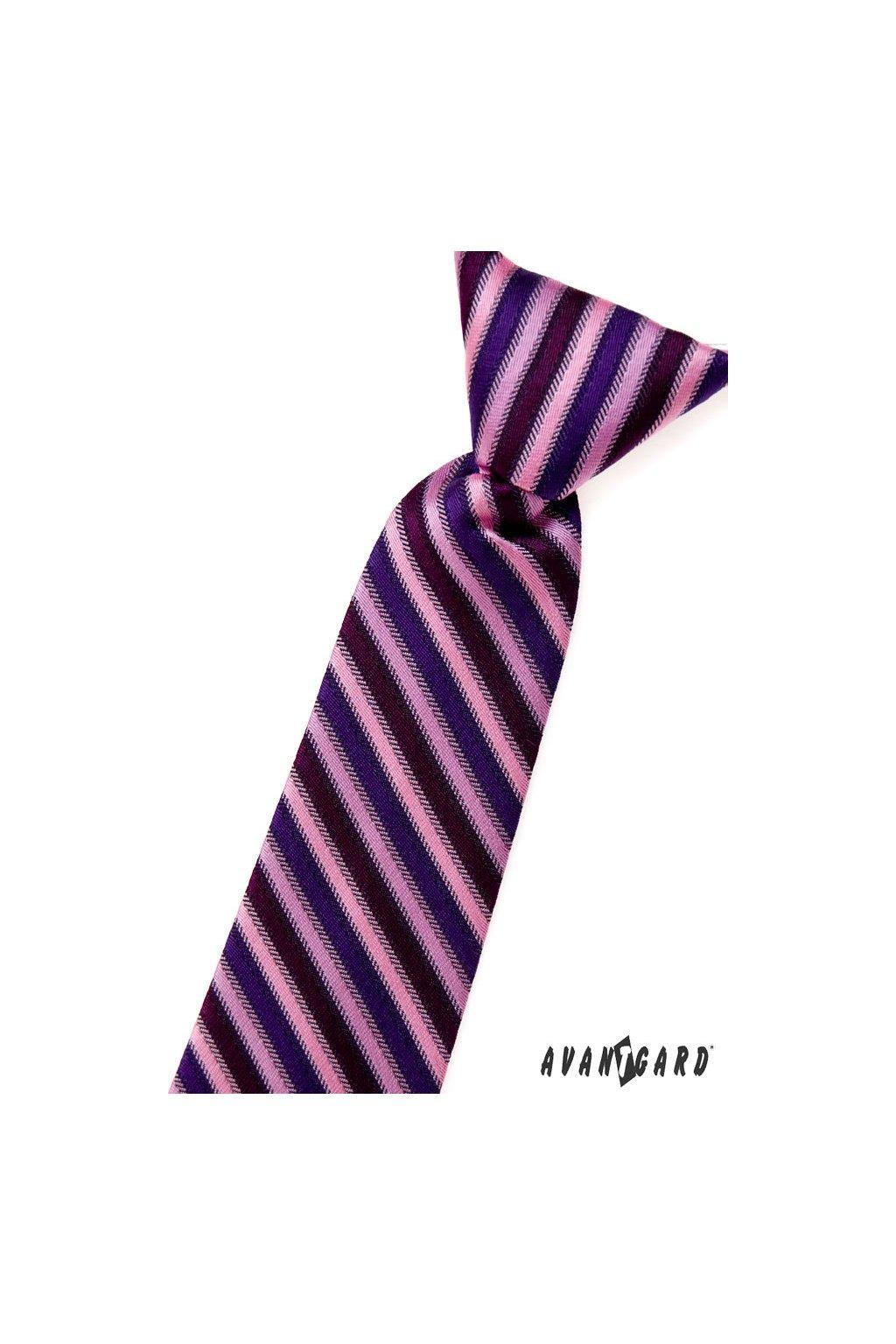 Chlapecká kravata, 558-1385, Růžová