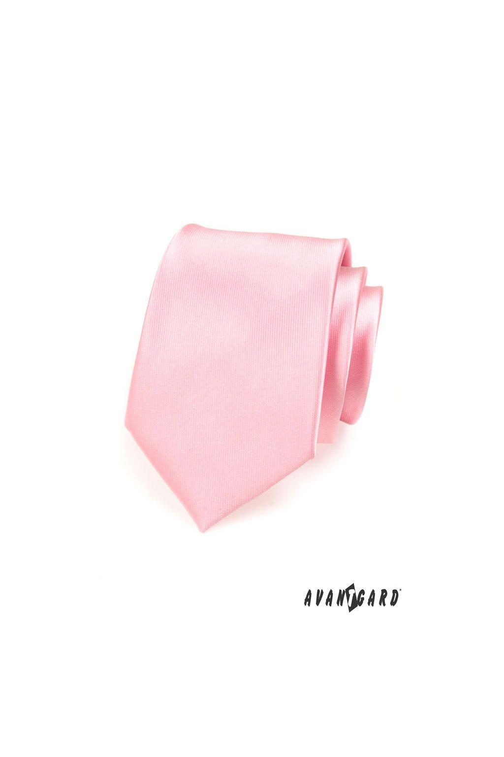 Kravata LUX, 561-14609, Růžová