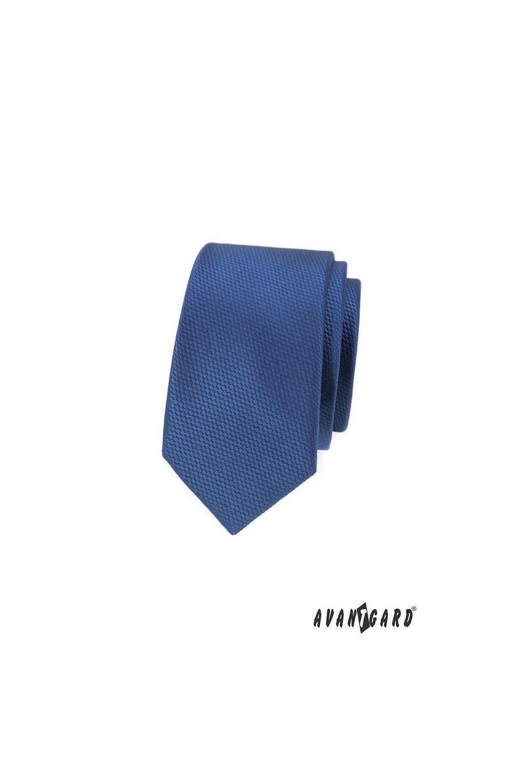 Kravata SLIM LUX, 571-14810, Modrá