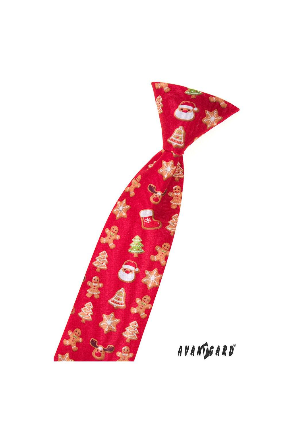 Chlapecká kravata, 548-1984, Červená/perníček