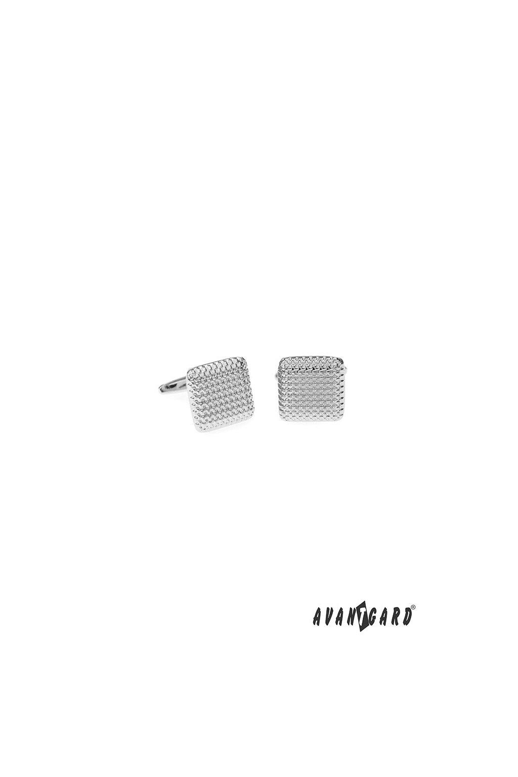Manžetové knoflíčky PREMIUM, 573-20635, Stříbrná lesk