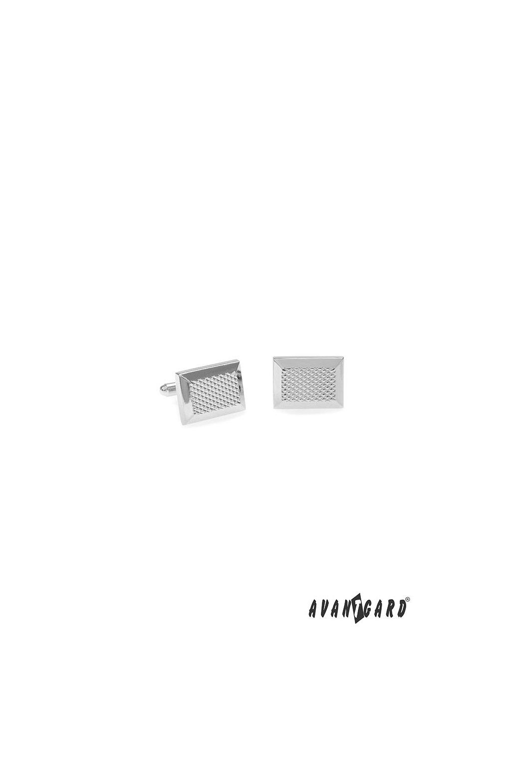 Manžetové knoflíčky PREMIUM, 573-20664, Stříbrná lesk