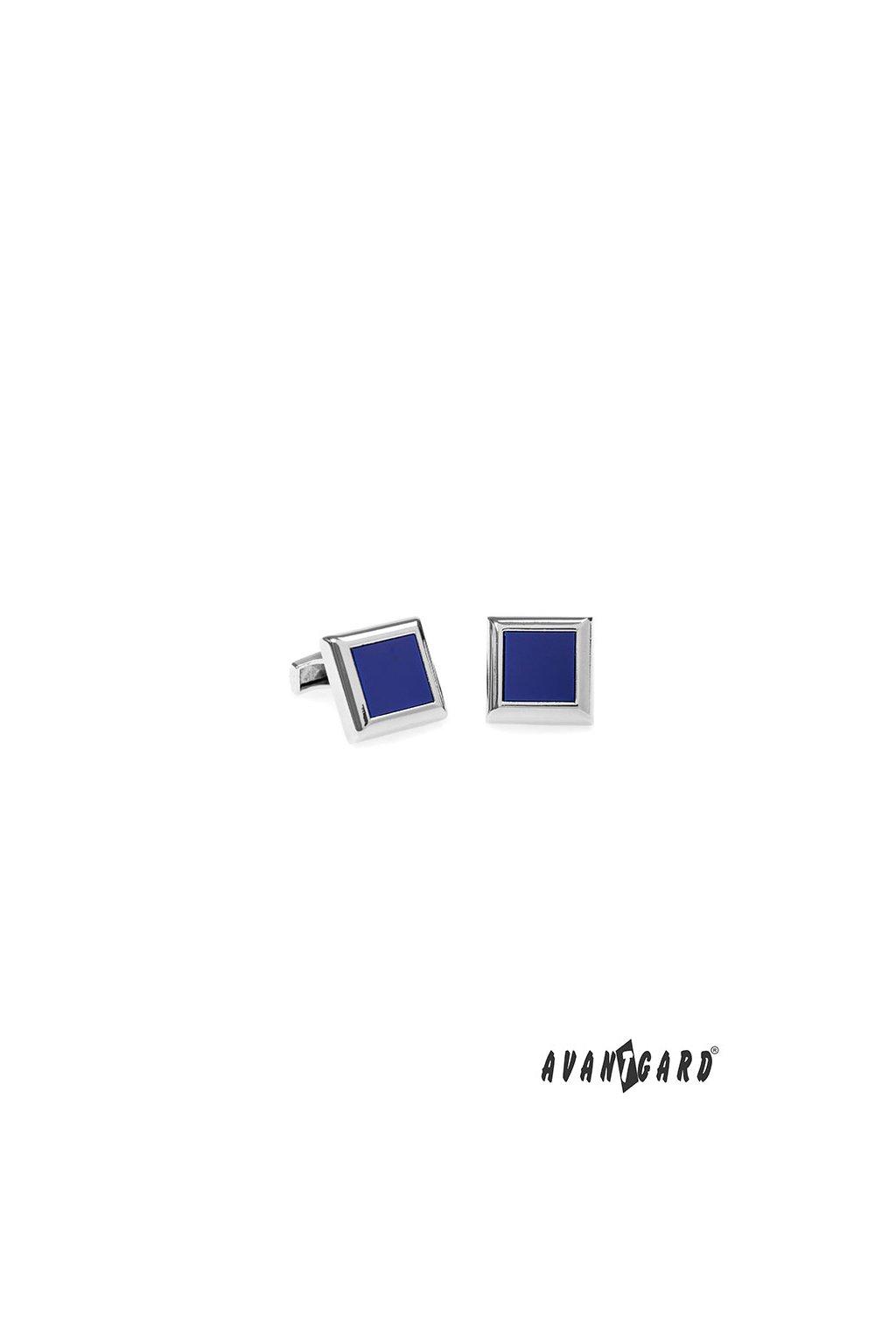 Manžetové knoflíčky PREMIUM, 573-20678, Stříbrná lesk/fialová