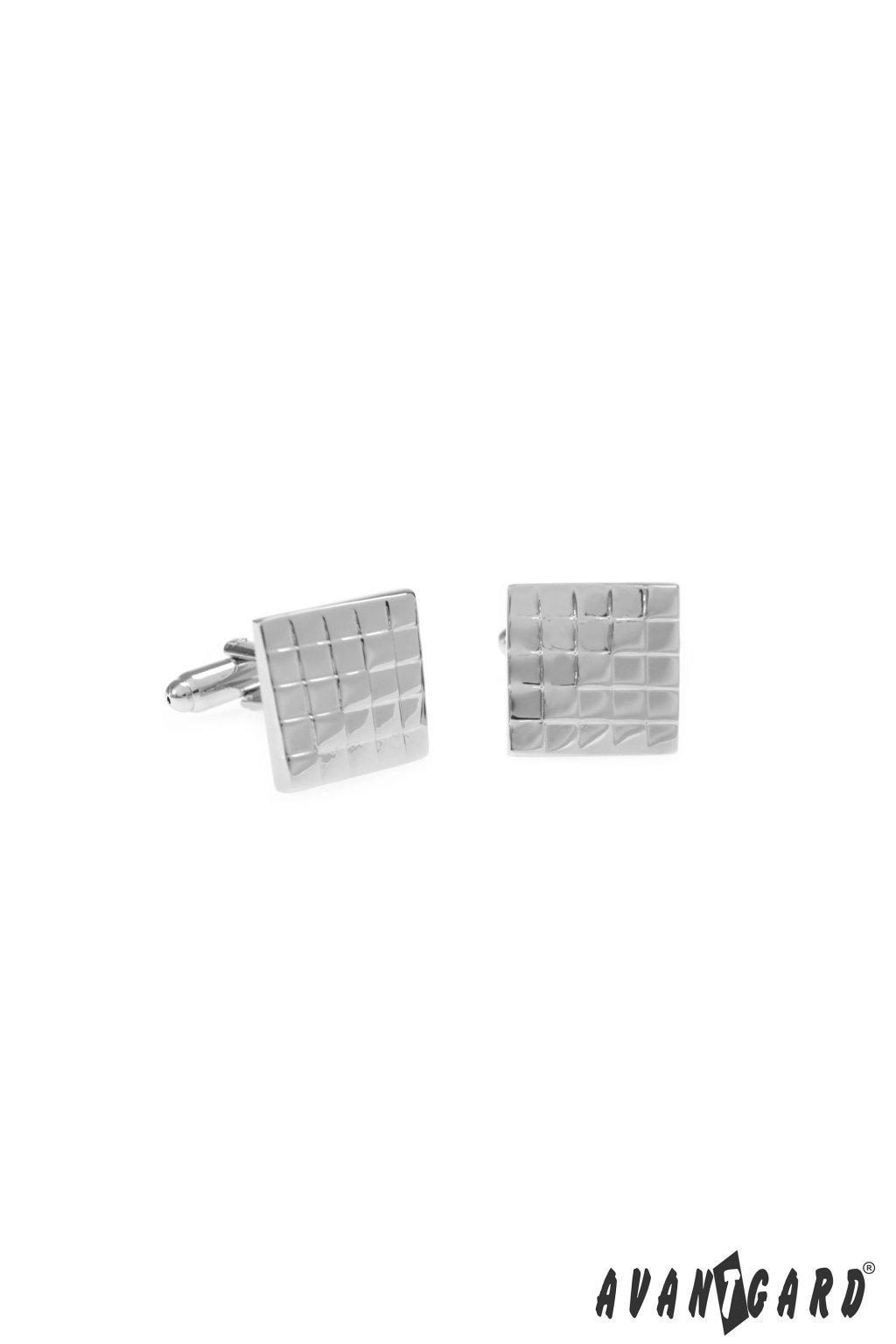 Manžetové knoflíčky PREMIUM, 573-20696, Stříbrná lesk