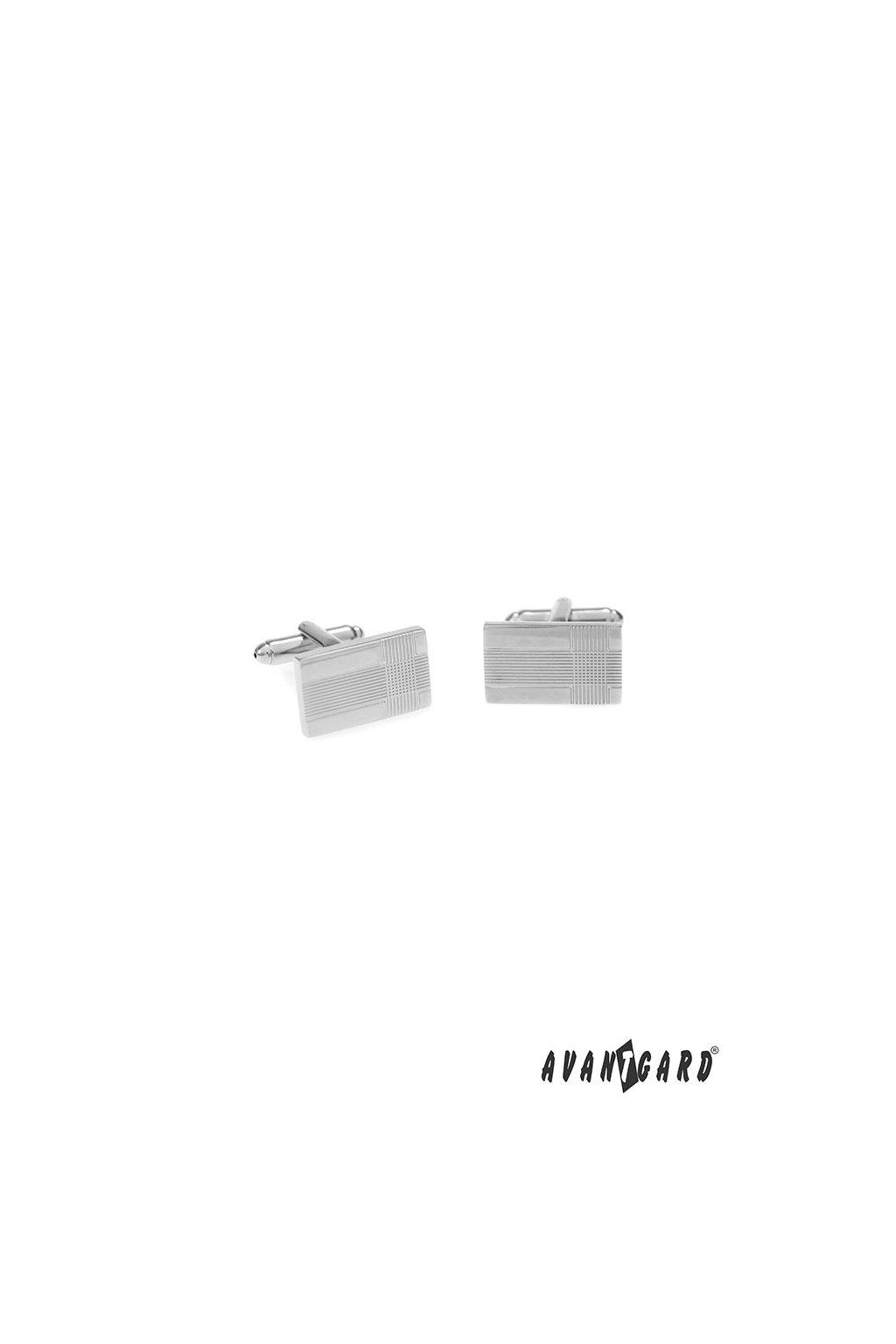 Manžetové knoflíčky PREMIUM, 573-20709, Stříbrná lesk