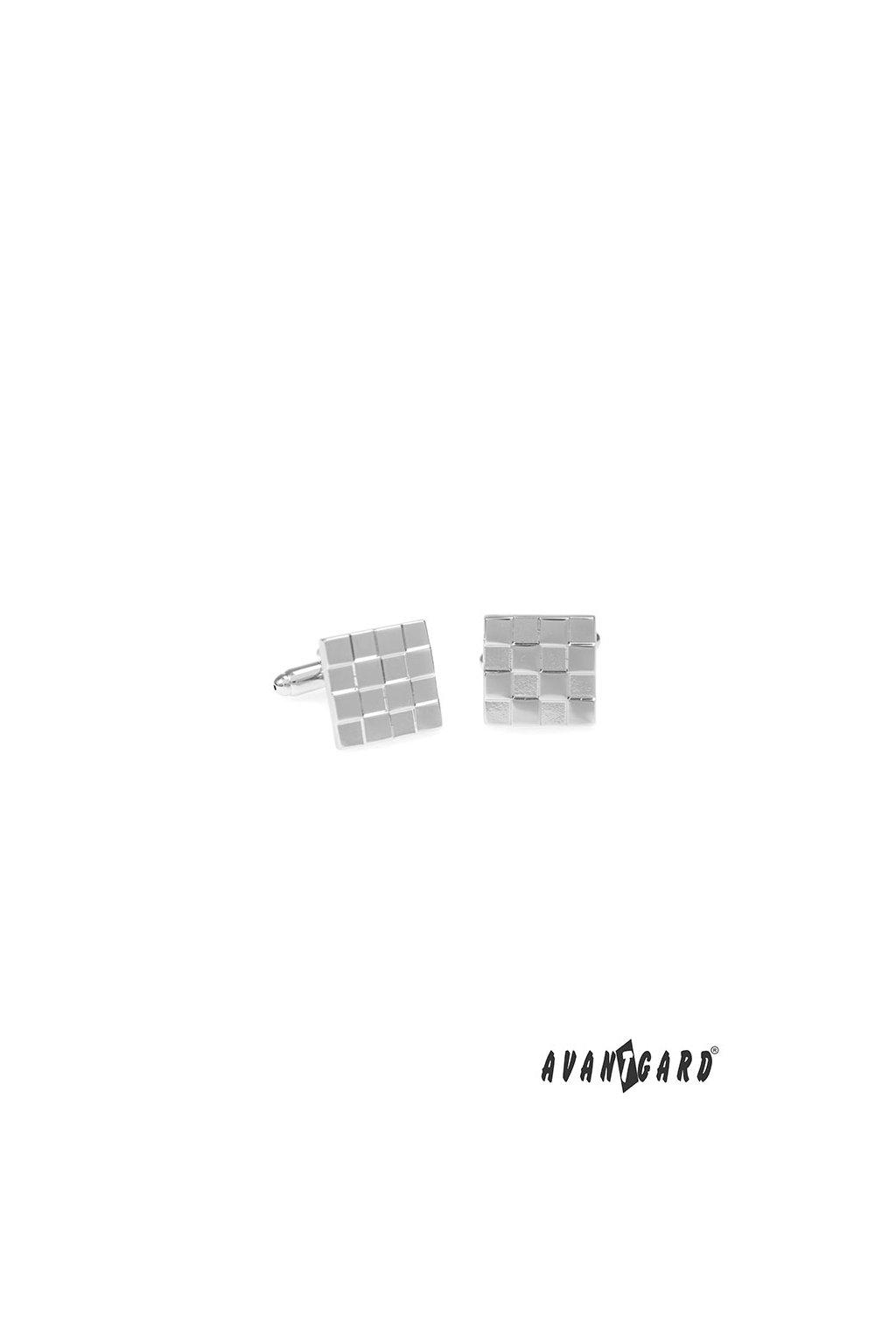 Manžetové knoflíčky PREMIUM, 573-20713, Stříbrná lesk