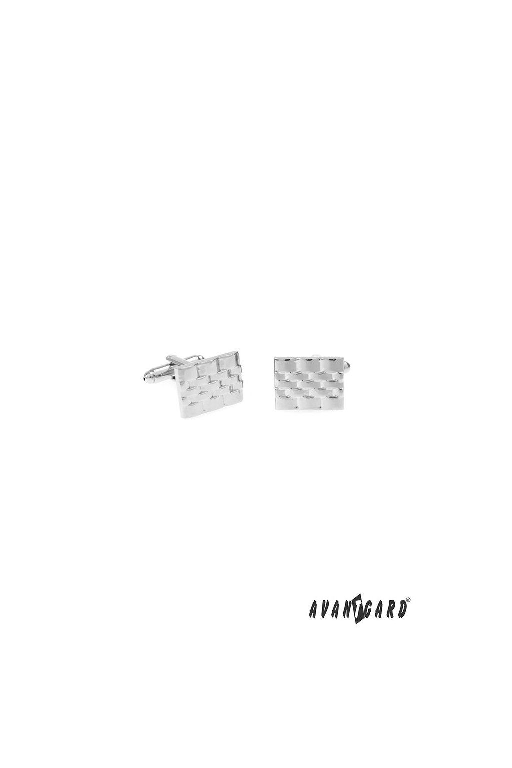 Manžetové knoflíčky PREMIUM, 573-20756, Stříbrná lesk