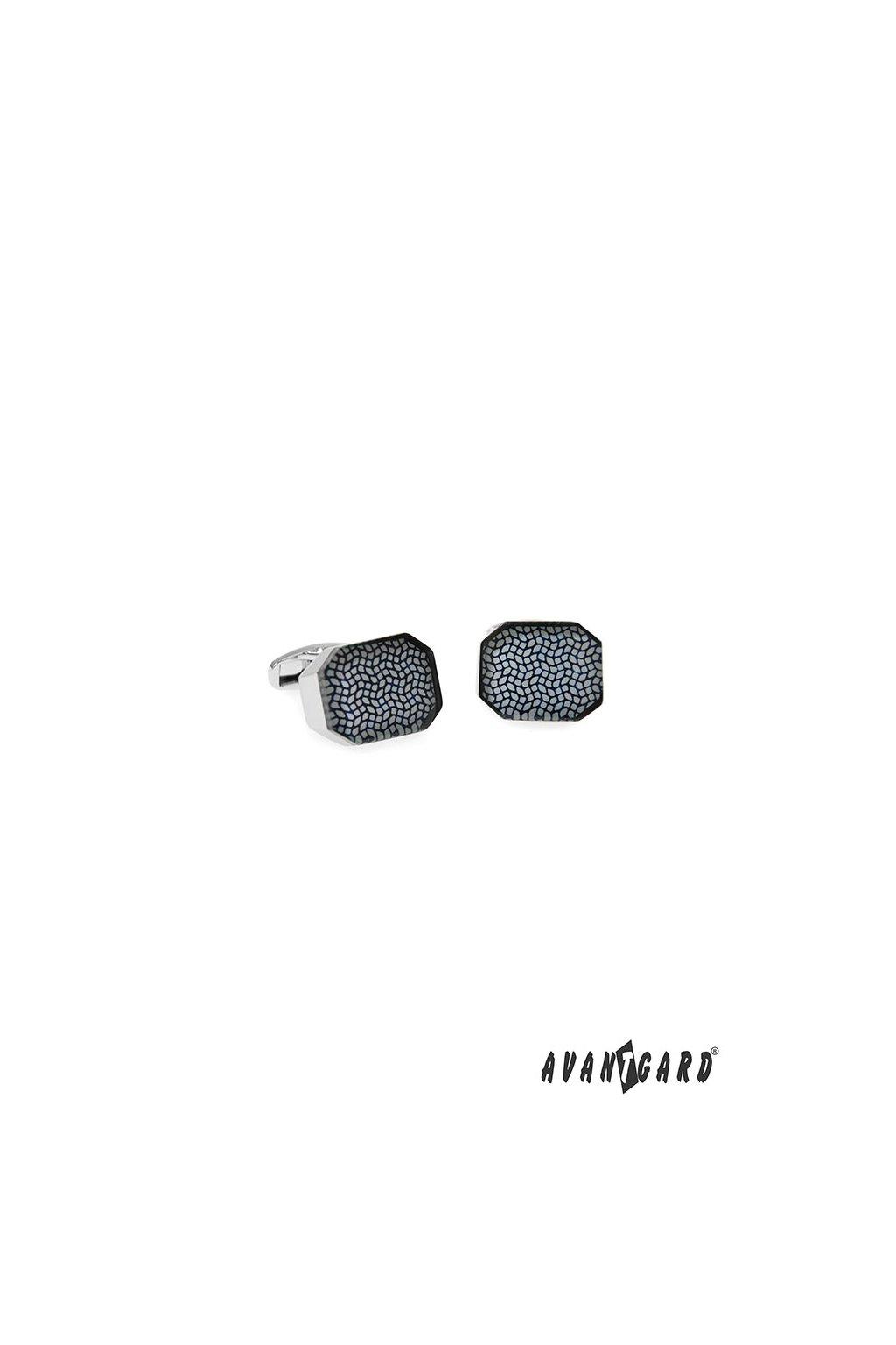 Manžetové knoflíčky PREMIUM, 573-20767, Stříbrná lesk