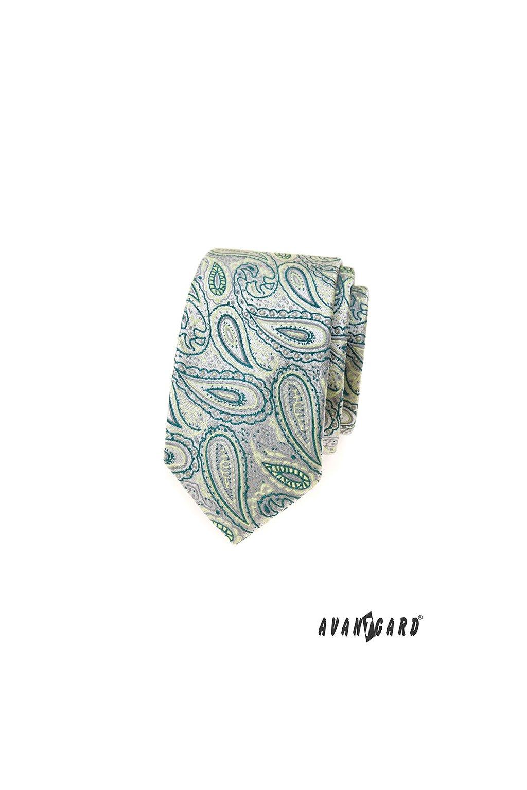 Kravata SLIM LUX, 571-22052, Zelená