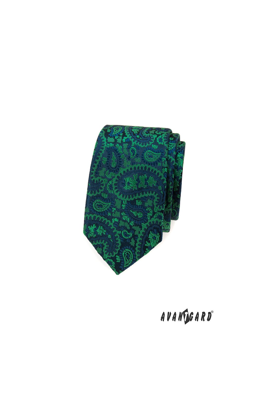 Kravata SLIM LUX, 571-22061, Zelená/modrá