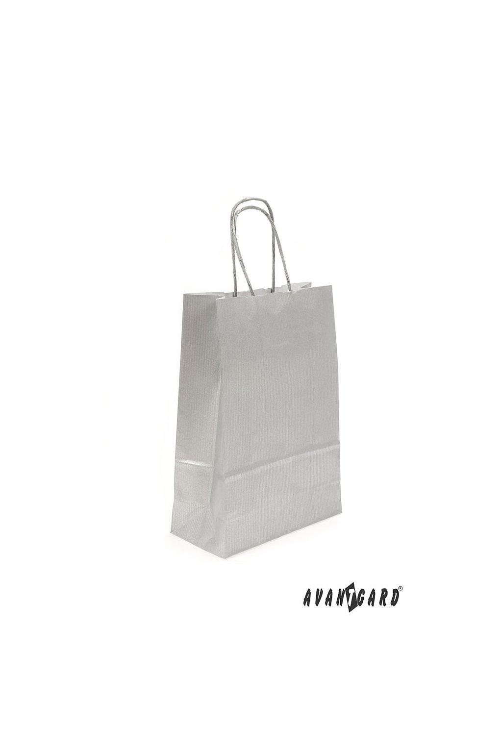 Papírová taška, 935-21, Stříbrná