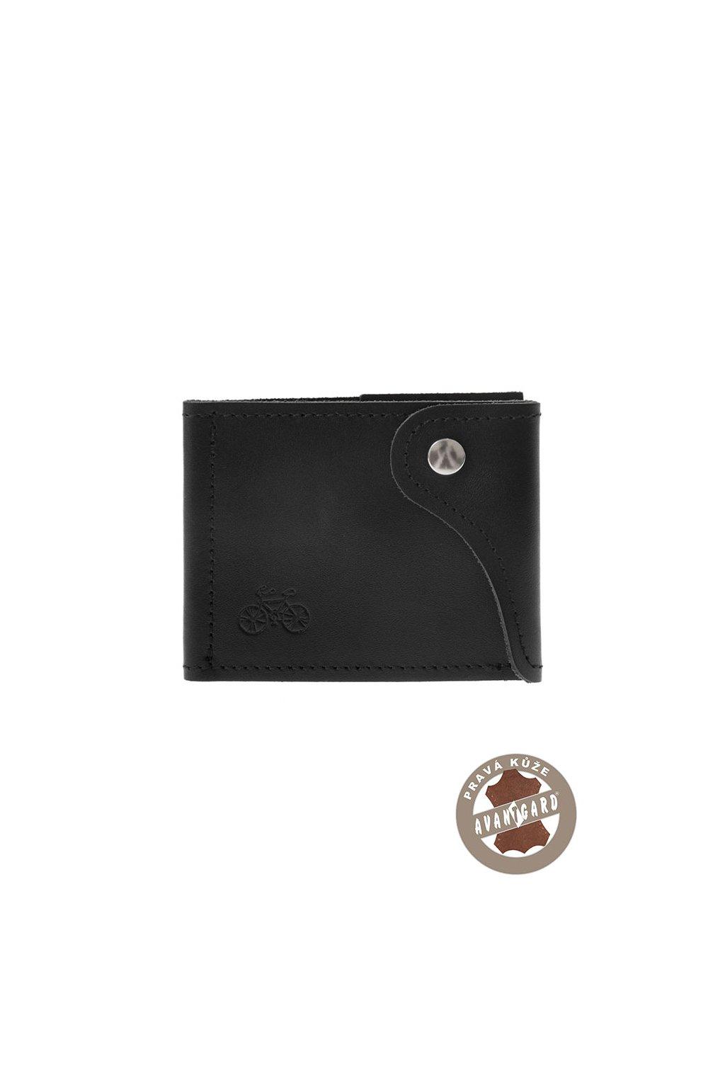 Pánská peněženka z pravé kůže, 800-232309, Černá/kolo