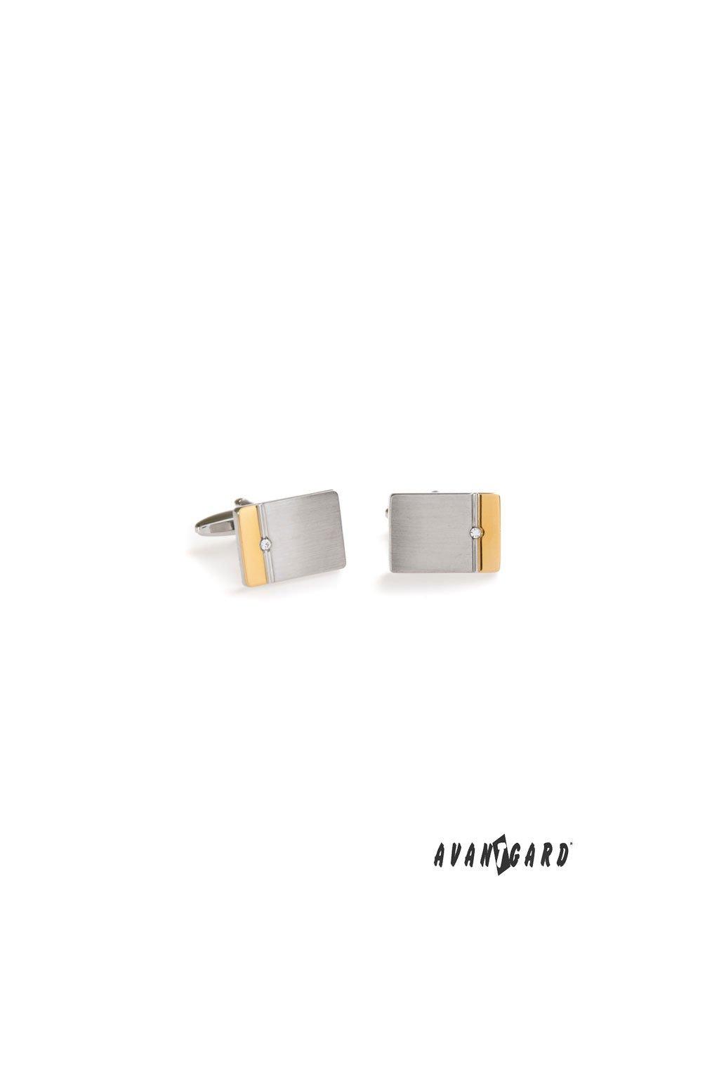 Manžetové knoflíčky PREMIUM, 573-30058, Stříbrná, zlatá