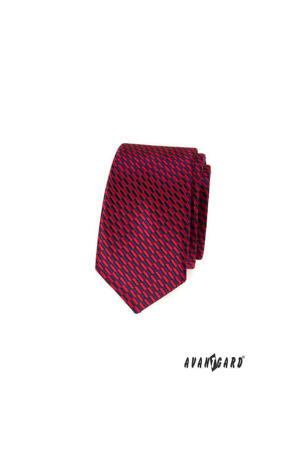 Kravata SLIM, 551-359, Červená