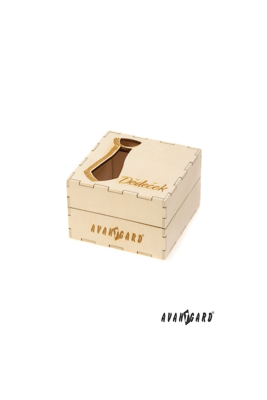 Dřevěná dárková krabička Dědeček, 923-3711, Přírodní dřevo