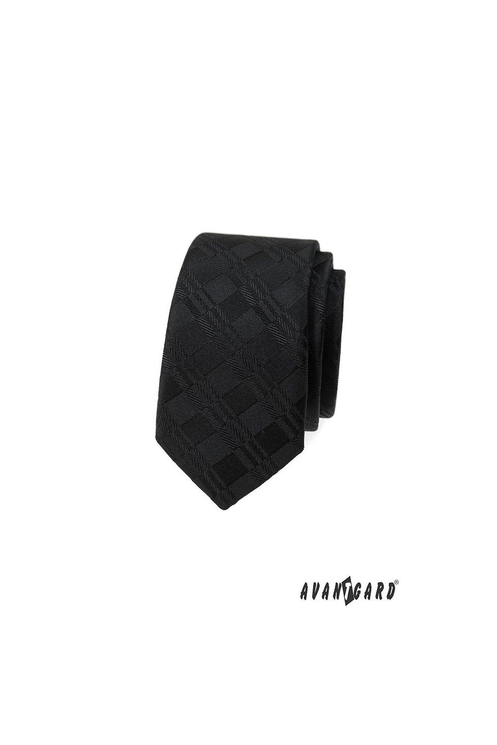 Kravata SLIM, 551-379, Černá