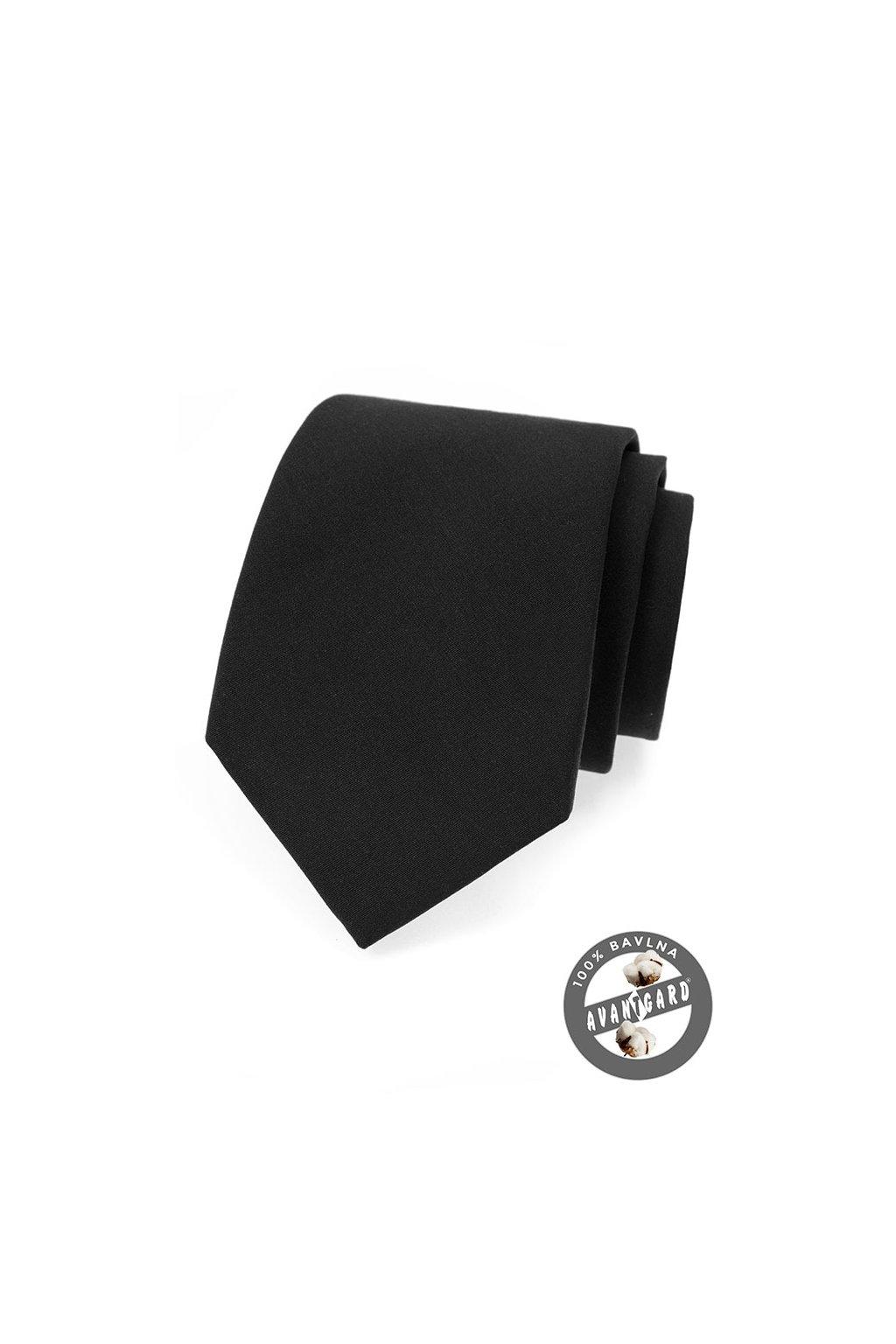 Kravata LUX bavlněná, 561-5009, Černá