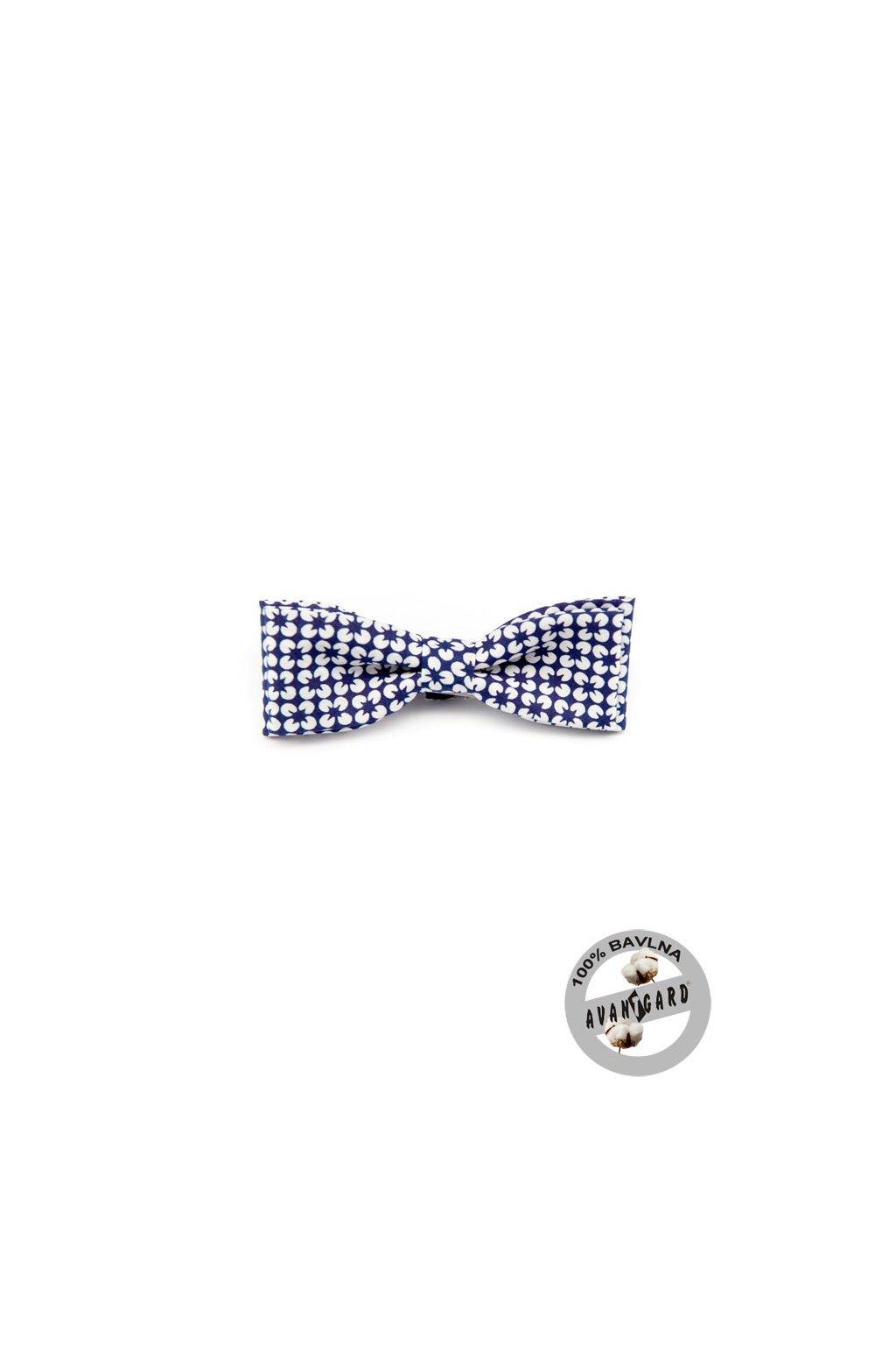Motýlek KLASIK, 576-5068, Modro-bílá